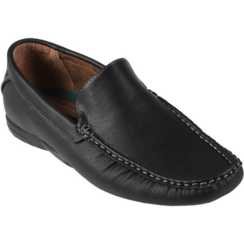 Daxx Men's Topstitched PU Leather Loafers