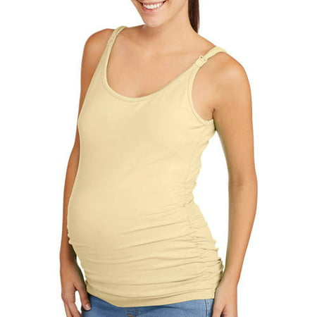 4a87fef1325e0 Planet Motherhood - Maternity Nursing Tank Top with Flattering Side Ruching  - Walmart.com
