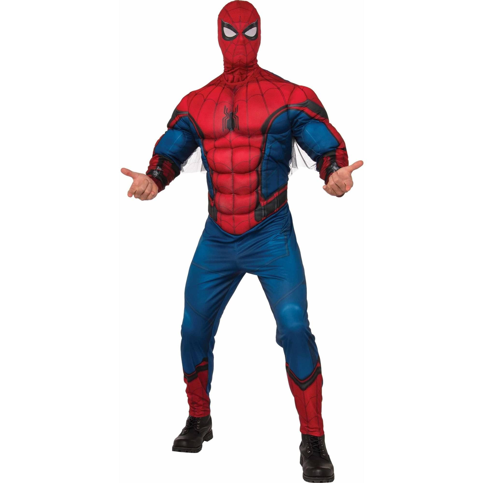 Spider-Man Muscle Chest Adult Costume, Extra Large (40-42)