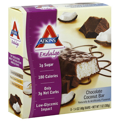 Atkins Chocolate Coconut Bars, 5ct (Pack of 6)