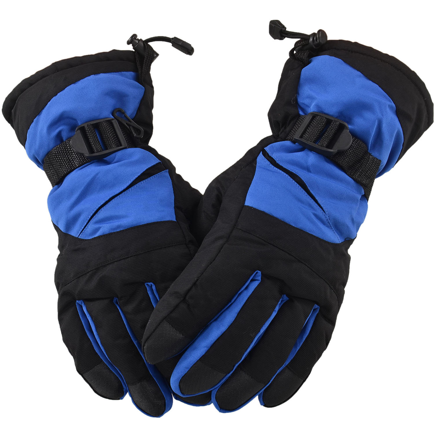 Simplicity Men's Winter Waterproof Ski Gloves for Sports & Camping,Blue Black by