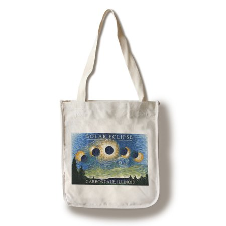 Carbondale Illinois Halloween (Carbondale, Illinois - Solar Eclipse 2017 - Starry Night - Lantern Press Artwork (100% Cotton Tote Bag -)