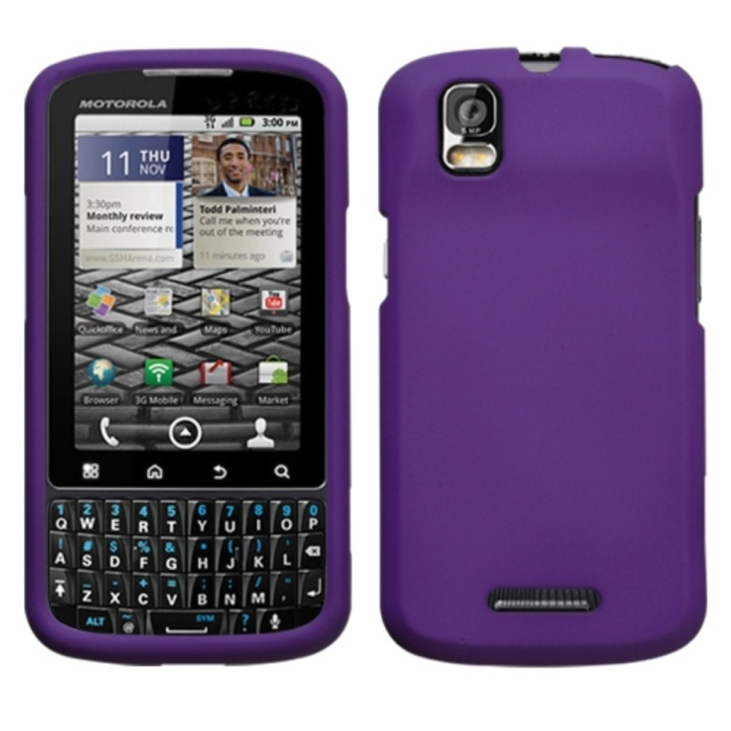 Insten Grape Phone Case (Rubberized) for MOTOROLA: XT610 (Droid Pro)