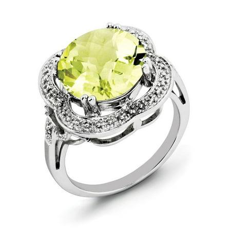 Roy Rose Jewelry Sterling Silver Lemon Quartz Ring