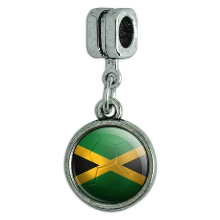 Jamaica Flag Soccer Ball Futbol Football Italian European Style Bracelet Charm Bead](Football Charms)