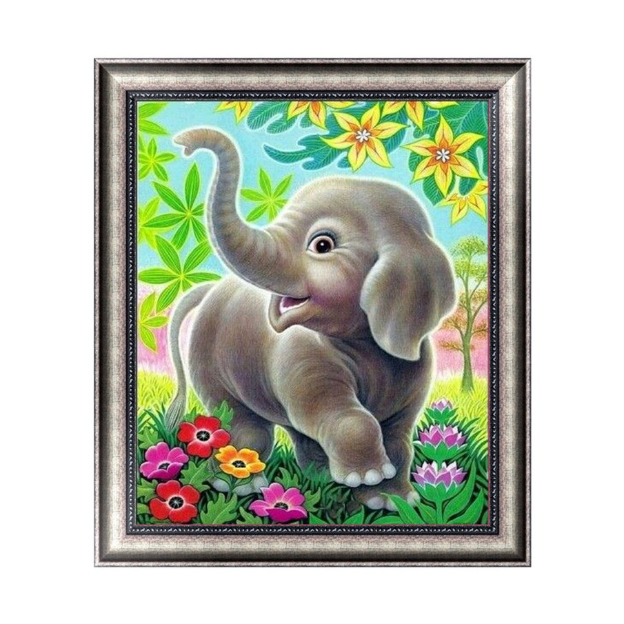 CUte Elephant 5D Diamond Painting DIY Embroidery Cross Stitch Craft Needlework Kits Wall Pictures Home Decoration