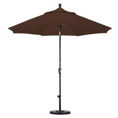 California Umbrella 8.5' Market Patio Umbrella with Auto Tilt in Mocha