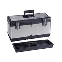 Maxxhaul HL-3030 22. 5 inch Stainless Steel Tool Box with Foldable Handle & Inside Tray