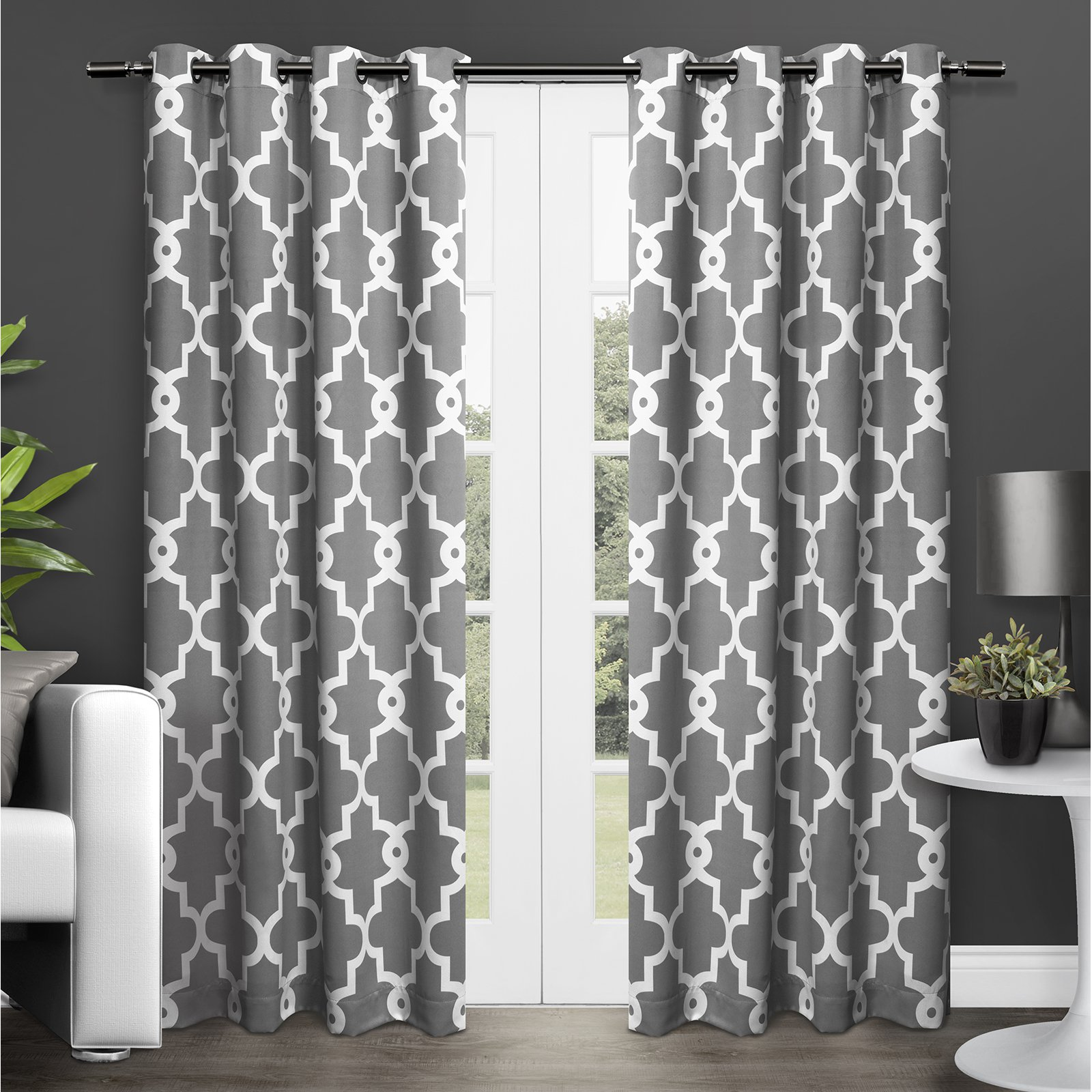 eyelet embossed thermal pair herringbone chevron mustard blackout style yellow curtains curtain x inches