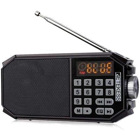 Retekess TR610 Bluetooth Speaker with FM Radio Portable Wireless Speaker MP3 Player Support Handfree Loop Playback - image 1 de 5