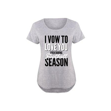 254485794d HARPER   QUINN - I Vow Love You During Football Season - Ladies Plus Size  Scoop Neck Tee - Walmart.com