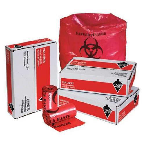 Tough Guy 31DK93 Red Linear Low Density Polyethylene 7 to 10 gal. Trash Bag
