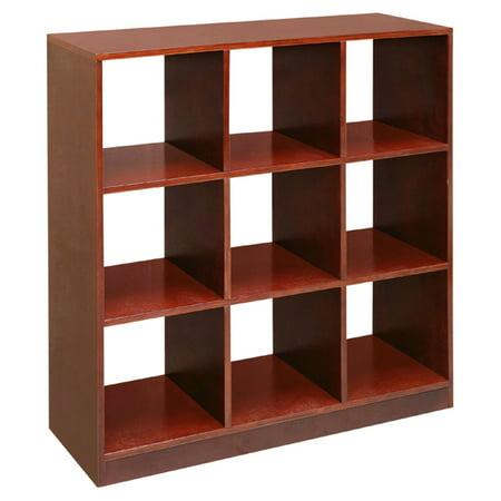 badger basket 9 cubby storage unit cherry. Black Bedroom Furniture Sets. Home Design Ideas