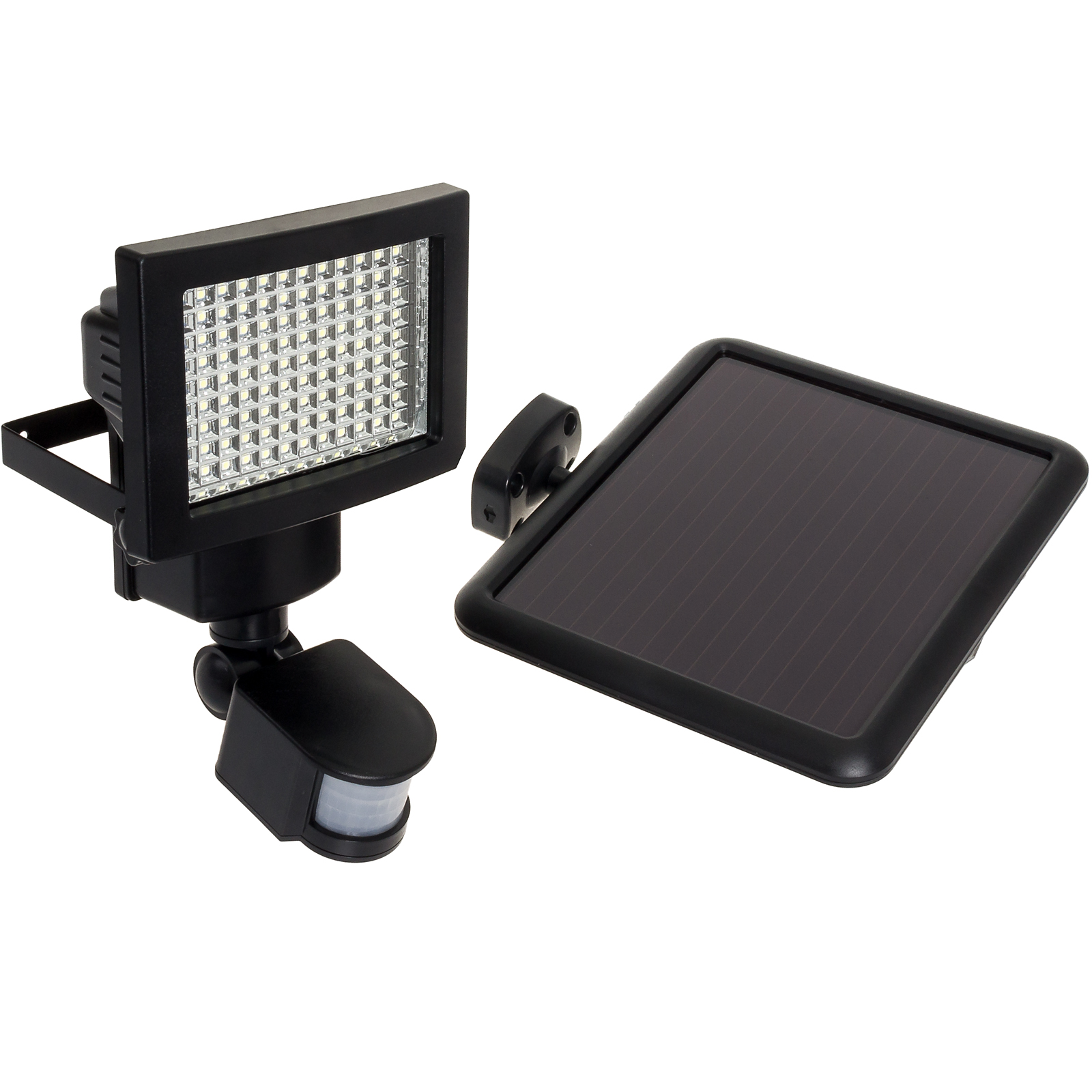 GREENLIGHTING Black 108 LED Solar Powered PIR Motion Sensor Security Flood Light