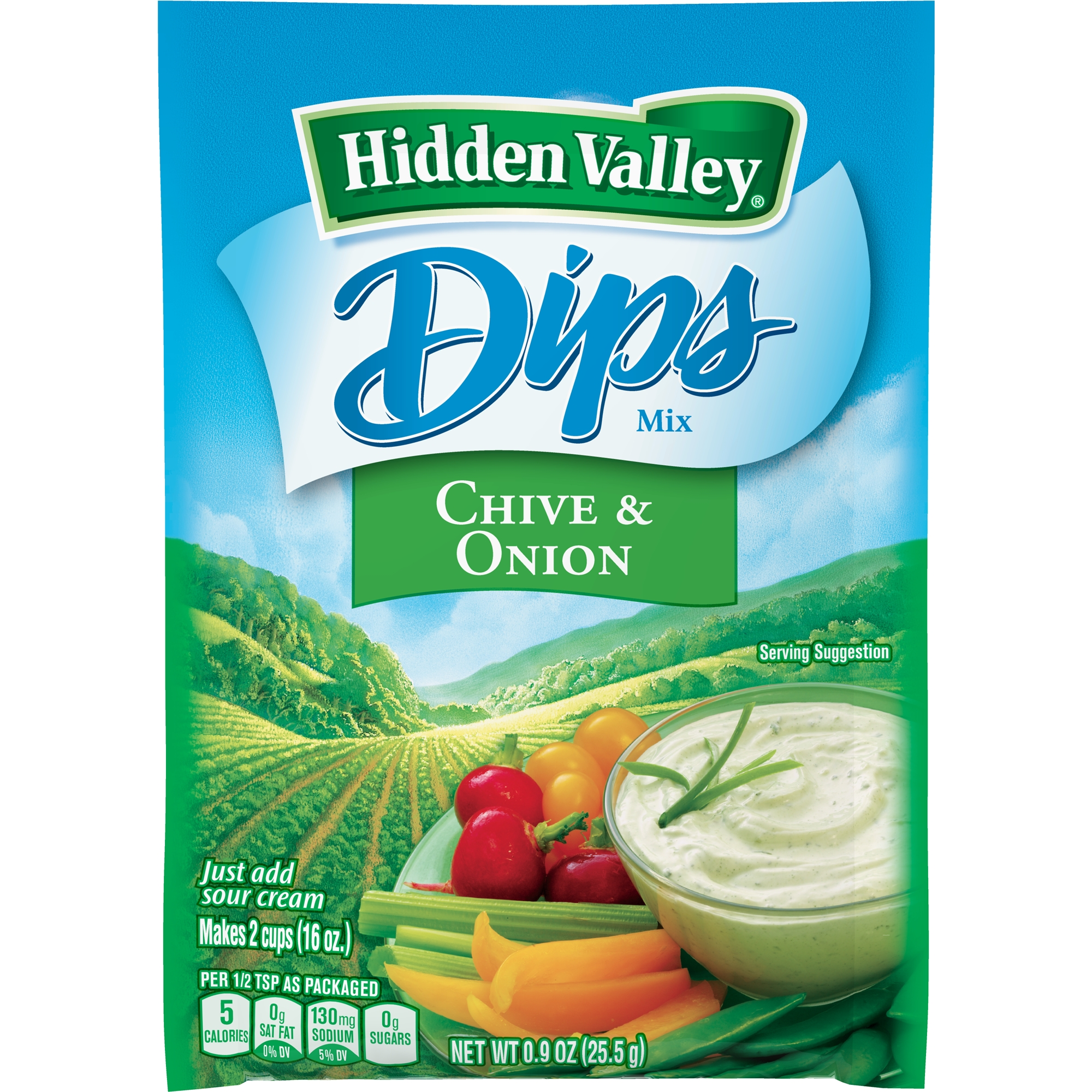 Hidden Valley Chive & Onion Dips Mix, Gluten Free -  1 Packet