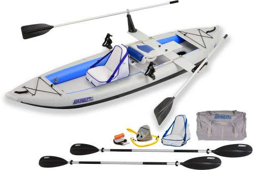 Sea Eagle 385FT FastTrack Inflatable Kayak QuikRow Package by Sea Eagle Boats, Inc.