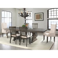 Picket House Stanford 7 Piece Scrolled Trestle Dining Table Set