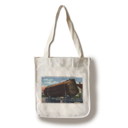 Seattle, Washington - Giant Log en route to Mill (100% Cotton Tote Bag -