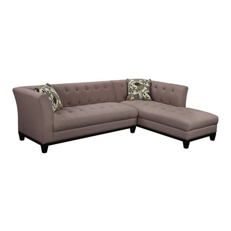 Emerald Marion Lsf Sofa Rsf Chaise Accent Pillows