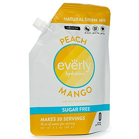 Everly, Hydration Powdered Drink Mix, Peach Mango, 30 Servings