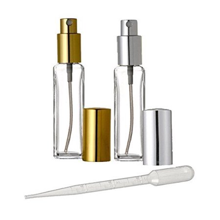 fd30871e5bf5 Grand Parfums 1 Oz Tall Square Style Perfume Atomizer Empty Refillable  Glass Bottle - 1 oz Size for Aromatherapy Perfume Bottles - 30ml 30 ml ...