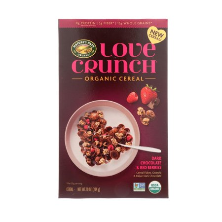 Nature's Path Cereal - Organic - Love Crunch Dark Chocolate And Red Berries - Pack of 6 - 10 Oz
