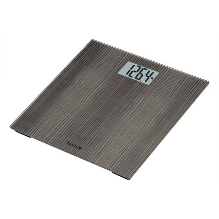 Taylor 7560 Digital Scale, Anthracite Gray, Wood, Water