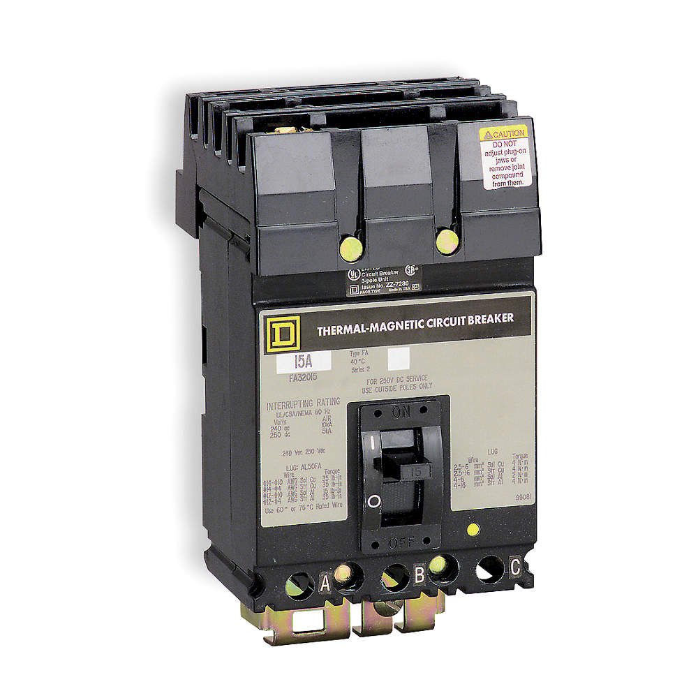 SQUARE D Circuit Breaker FA34020