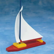 Unfinished Wooden Sailboat Unassembled, Pack of 12