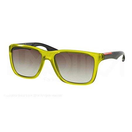 Prada Sport Sunglasses PS04OS TWZ0A7 Matte Green Grey Gradient 58 16