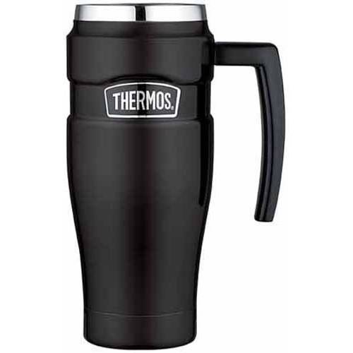 Thermos Stainless Travel Mug, 16 oz, Black