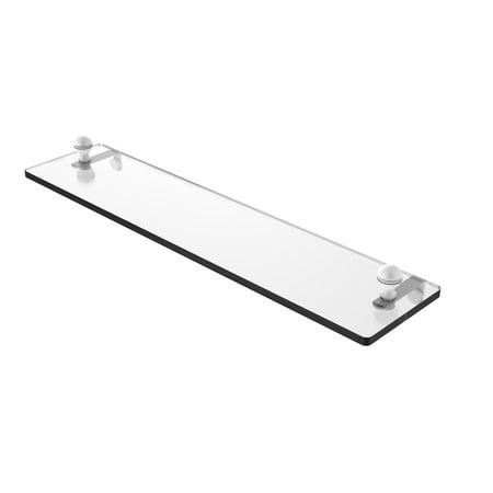 Mambo 22 Inch Glass Vanity Shelf with Beveled Edges