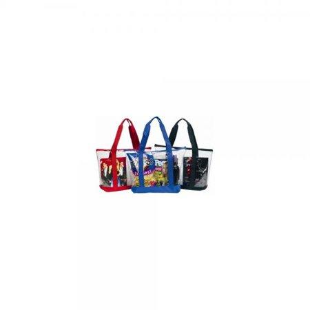 5e515abd1d74 Large Clear Tote Bag with Zipper Closure (Black) - Walmart.com