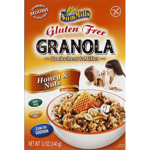 *****DISCONTINUED****Sam Mills Buckwheat & Millet Honey & Nuts Gluten Free Granola, 12 oz, (Pack of 6)