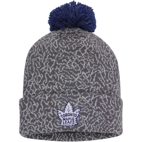 Toronto Maple Leafs Mitchell & Ness Vintage Crack Pattern Knit Hat Gray OSFA by MITCHELL NESS CO.