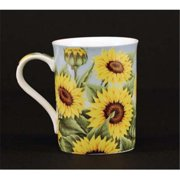Euland China FL0-001S Set Of Two 12-Ounce Mugs - Sunflower