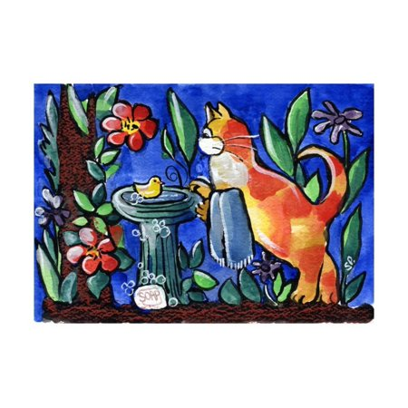 Tabby Cat with Rubber Duck Print Wall Art By sylvia pimental - Rubber Duck Clip Art