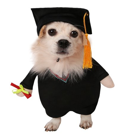 HDE Graduation Pet Halloween Costume Party and Special Event Outfit with Cap and Robe for Small and Medium Dogs (Black, Large) - Jax Halloween Events