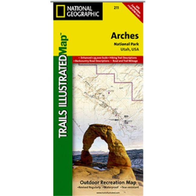 Map Of Arches National Park Utah