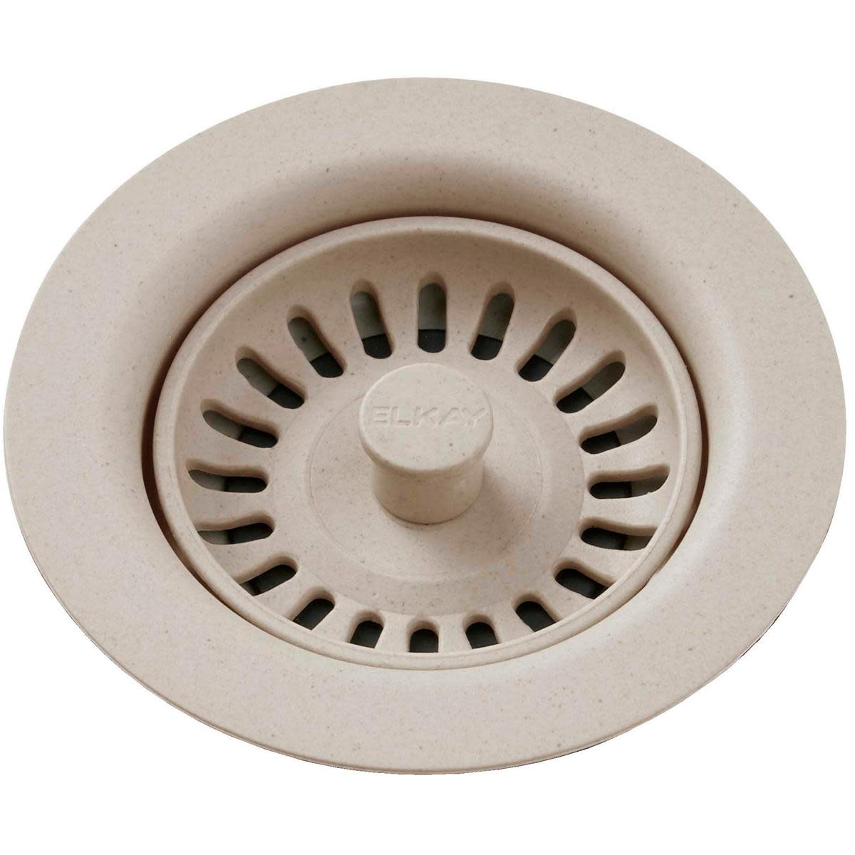 """Elkay LKQS35 3-1/2"""" Drain Fitting with Removable Basket Strainer and Rubber Stopper"""