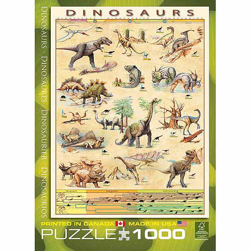 EuroGraphics Dinosaurs 1000-Piece Puzzle