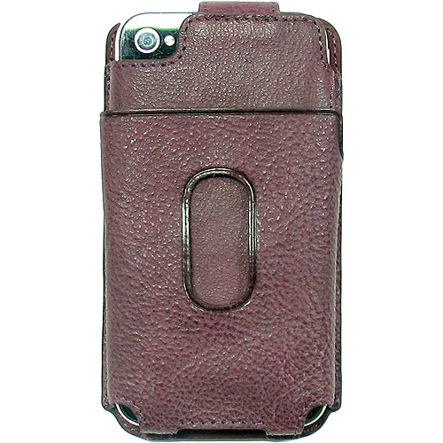 LIMITED LUXURY DARK PINK GENUINE LEATHER FLIP CASE WALLET FOR APPLE iPHONE 4S 4