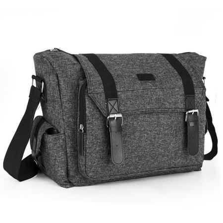 Amzbag Camera Bag SLR/DSLR Camera Shoulder Bag Case Include Shoulder Strap Removable Organizer Carrying Shoulder Bag for Four Sony Canon Nikon Olympus Pentax (Black)