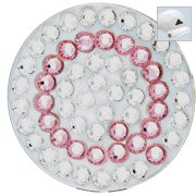 Bella Crystal Golf Ball Marker & Hat Clip - Initials Collection - Q (Pink)