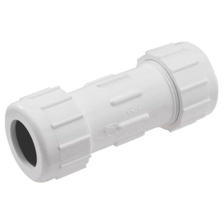 King Brothers CPC-1000 Sch 40 Pvc Compression Coupling, 1""