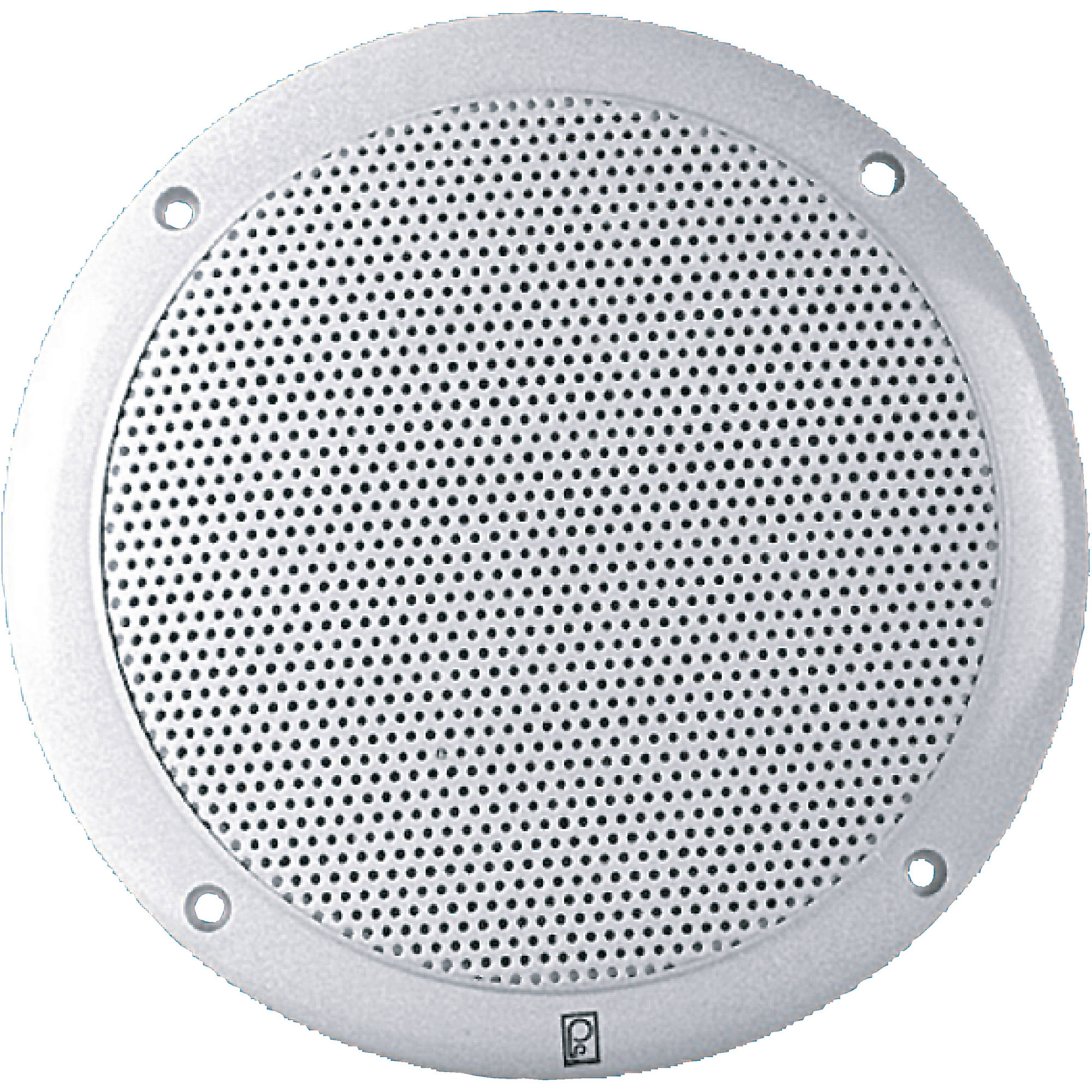 Poly-Planar Waterproof 2 Way Coax - Integral Grill Performance Speakers, 80W Per Pair, White (Sold as Pair)