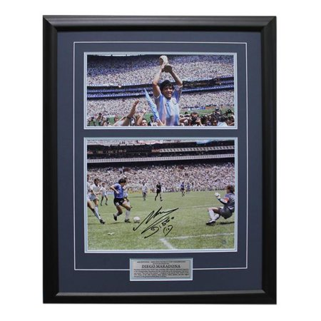 Aj Sports World Madi00053a 25 X 31 In  Diego Maradona Argentina Signed 1986 World Cup Goal Of The Century Frame