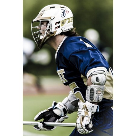 Laminated Poster Helmet Action Stick Player Lacrosse Sport Playing Poster Print 24 x (Playing Stick)