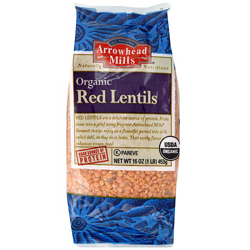 Arrowhead Mills Organic Red Lentils, 16 oz (Pack of 6)
