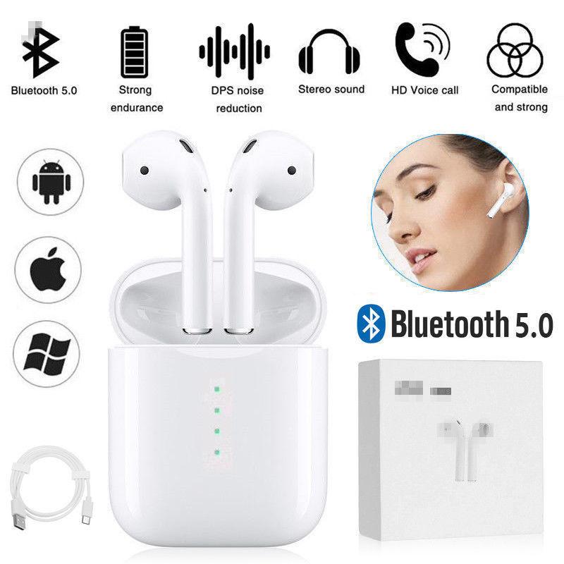 For i10 TWS Wireless Bluetooth5.0 Earphones True Stereo Headphones Earbuds Mic